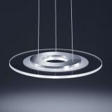 Afbeelding van Helestra deels gesatineerde led hanglamp Alide, voor woon / eetkamer, metaal, glas, 3 W, energie efficiëntie: A+, H: 2.2 cm