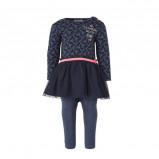 Afbeelding van Dirkje baby jurk + legging donkerblauw