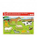 Afbeelding van Hape Boerderijdieren vormenpuzzel 8 stukjes