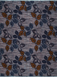 Abbildung von Vlisco VL01370.006.04 Blue/Brown African print fabric Wax Hollandais Nature