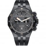 Afbeelding van Edox 10109 357GNCA NINB herenhorloge zwart edelstaal PVD