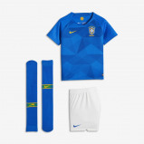 Abbildung von 2018 Brazil CBF Stadium Away Younger Kids' Football Kit Blue