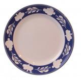 Afbeelding van Boerenbont & bonter bord plat 25,5cm blauwe rand