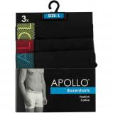 Afbeelding van Apollo 3 pack heren boxershort Black