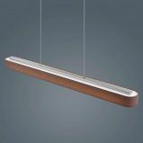 Afbeelding van Helestra helestra Bora bruine LED hanglamp, voor woon / eetkamer, metaal, textiel, acryl, 30 W, energie efficiëntie: A+, L: 101.5 cm, B: 9 cm, H: 7 cm