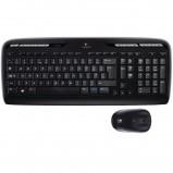 Afbeelding van Toetsenbord Logitech MK330 Qwerty +muis zwart Toetsenborden