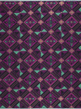 Obrázek Vlisco VL00014.298.04 Purple African print fabric Limited Editions Geometrical