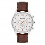 Afbeelding van Mats Meier Grand Cornier chronograaf heren horloge wit/bruin