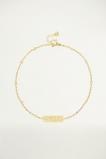 Afbeelding van Bedelarmbandje bar met roosjesprint, armband