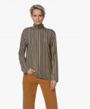 Afbeelding van SIYU Colshirt Lineas Finisimo Jersey Print in Donkergrijs
