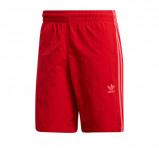 Afbeelding van adidas originals Adicolor zwemshort 3 stripes rood