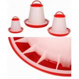 Afbeelding van Beeztees Plastic voersilo met deksel rood wit 3kg