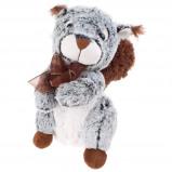 Afbeelding van Eddy Toys knuffel eekhoorn grijs/groen 27 cm