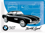 Afbeelding van BMW Classic 507 Metalen Wandplaat 40x30cm Wandplaten
