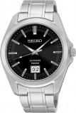 Afbeelding van Seiko herenhorloge SUR009P1 horloge Zilverkleur,Zwart