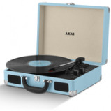 Immagine di Akai Rechargeable Portable Briefcase Turntable with Built In Speaker Blue