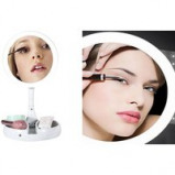 Image of 10x Magnifying Make up Mirror with Stand & LED Lighting