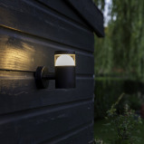 Bilde av Modern Round Outdoor Wall Lamp Up Black incl. LED Prim