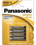 """Bilde av """"4 stk Panasonic AAA Alkaline Batterier"""""""