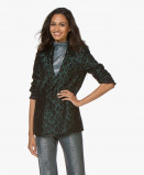 Image of ANINE BING Blazer Emerald Madeleine Leopard Jacquard