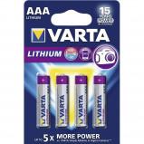 Afbeelding van Batterij Varta Ultra lithium 4xAAA Staaf En Blokbatterijen