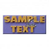 Afbeelding van AM Mold Letters 'Starburst effect' 23mm