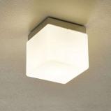 Afbeelding van Ailati tafellamp Cubis, chroom, voor woon / eetkamer, glas, metaal, E27, 60 W, energie efficiëntie: A++, L: 16 cm, B: H: 18.5 cm