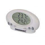 Afbeelding van Silverline 675133 Binnen/buiten thermometer 50C tot + 70C