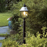 Afbeelding van Konstmide stijlvolle padlamp PARMA, roestvrij staal, aluminium, acrylglas, E27, 75 W, energie efficiëntie: A++, H: 118 cm