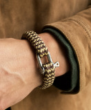 Image of Pig & Hen Armband Bombay Barry SO Brown Gold M