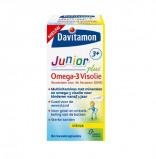 Afbeelding van Davitamon Junior 3+ Omega 3 Visolie 60 kauwcapsules