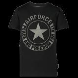 Afbeelding van Airforce B0597 kinder t shirt zwart