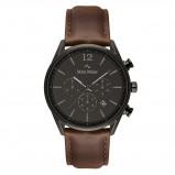 Afbeelding van Mats Meier Grand Cornier chronograaf heren horloge gunmetal/donkerbruin