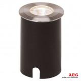 Afbeelding van AEG led inbouwarmatuur U Ground 3 W, metaal, kunststof, glas, energie efficiëntie: A+