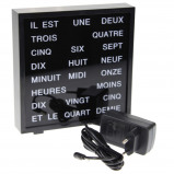 Afbeelding van United Entertainment LED Word Clock Frans 17 x 16.5 cm