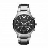Afbeelding van Armani herenhorloge AR2434 horloge Hoge Marge Zilverkleur,Zwart