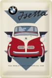 Afbeelding van BMW Isetta Economical Car Metalen Wandplaat 20x30cm Wandplaten
