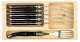 Afbeelding van Laguiole Style de Vie Vorken Set 6 stuks Zwart Premium Line
