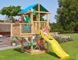 Image de Aire de Jeux avec Toboggan Hut Balcony Jungle Gym