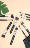 Imagine din 10 Piece Kabuki Makeup Brush Set