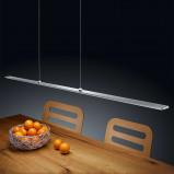 Afbeelding van Helestra helestra Kushi LED hanglamp mat nikkel, voor woon / eetkamer, aluminium, acryl, 21 W, energie efficiëntie: A+, L: 109 cm, B: 4.5 cm, H: 0.8 cm