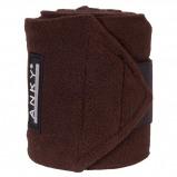 Afbeelding van Anky Bandages Basic Fleece Set van 4 Chocolate 3,5m