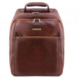 Immagine di 3 Compartments leather laptop backpack Brown