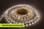 Image of Integral 5M Strip and Driver Kit IP20 LED Strip 4000K 6W per metre 40W (12V) IP20 LED driver included