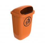 Afbeelding van Afvalbak DIN PK 50 ltr oranje