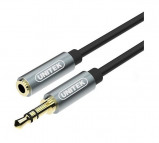 Billede af Minijack audio kabel m. forgyldte stik (M/F) 1m sort (ae AKUNIAJ00000009)