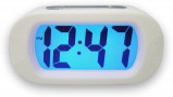Image of Balance Time LCD quartz alarm clock (Colour: white)