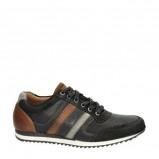 Afbeelding van Australian Cornwell leren sneakers zwart/bruin
