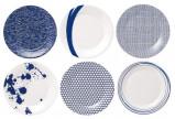 Afbeelding van Royal Doulton Pacific Ontbijtbord 23 cm 6 st. Blauw