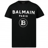 Afbeelding van Balmain 6l8581 Kinder T Shirt Zwart
